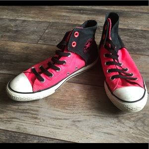 Converse all star high tops pink & black youth 3